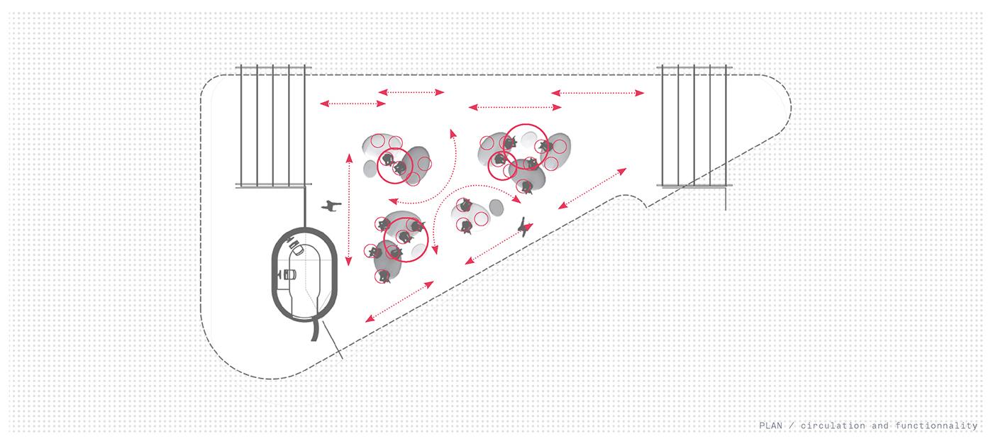 environmental design Art Installation Fiberglass acrylicize elyne legarnisson installation design Spatial Design drift one strand