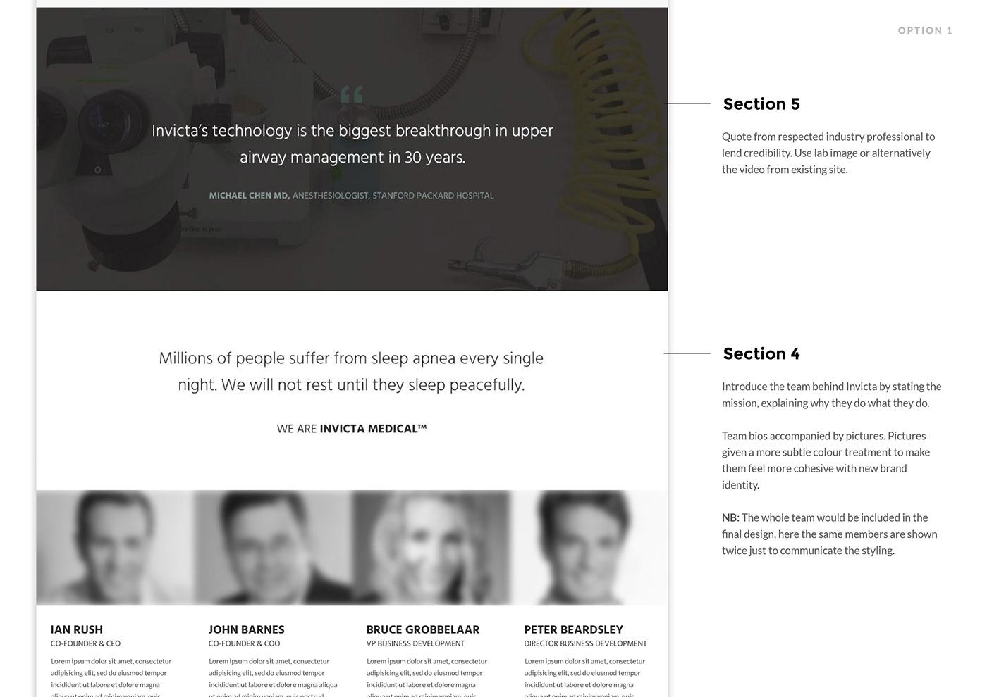 landing page design Website Design branding  medical branding UI