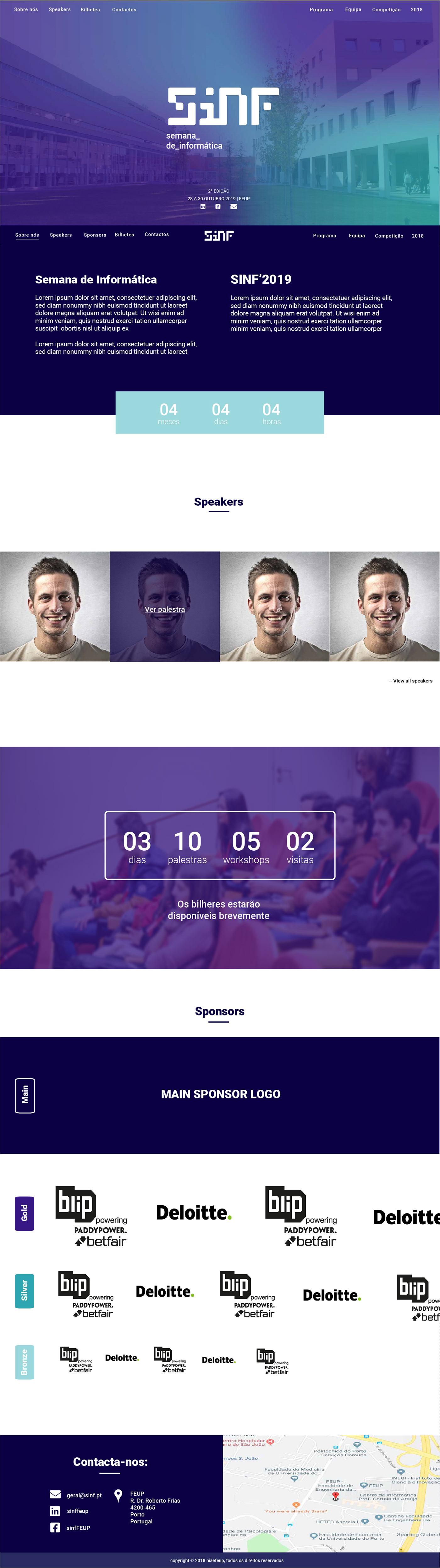 conference Event merchendise tech ux/ui Web Design