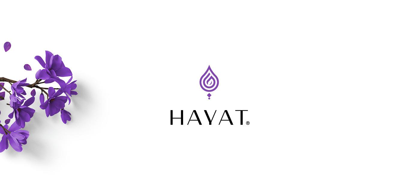HAYAT logo brand branding  identity Logo Design rebranding mark Stationery
