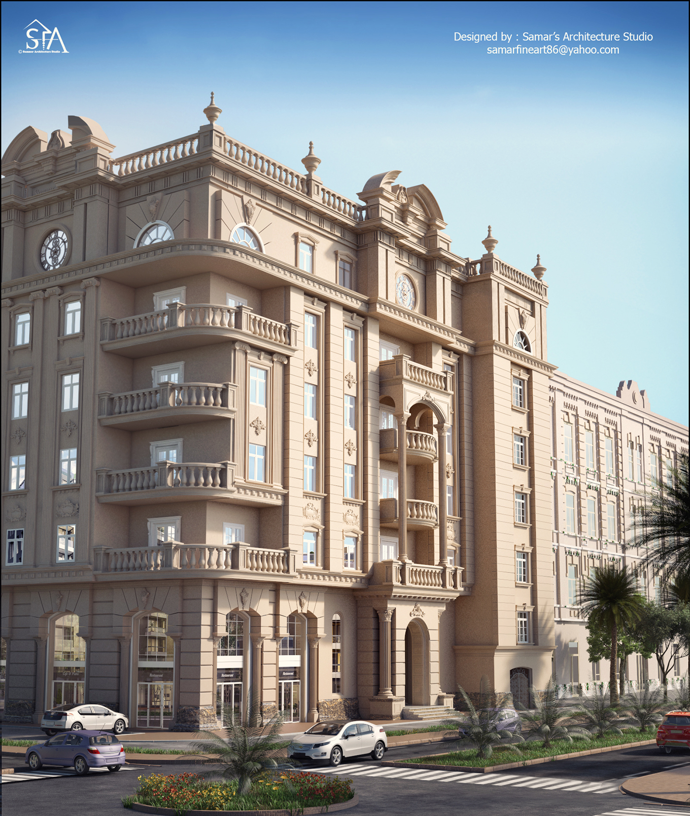 Neo classic residential building on behance for Classic builders