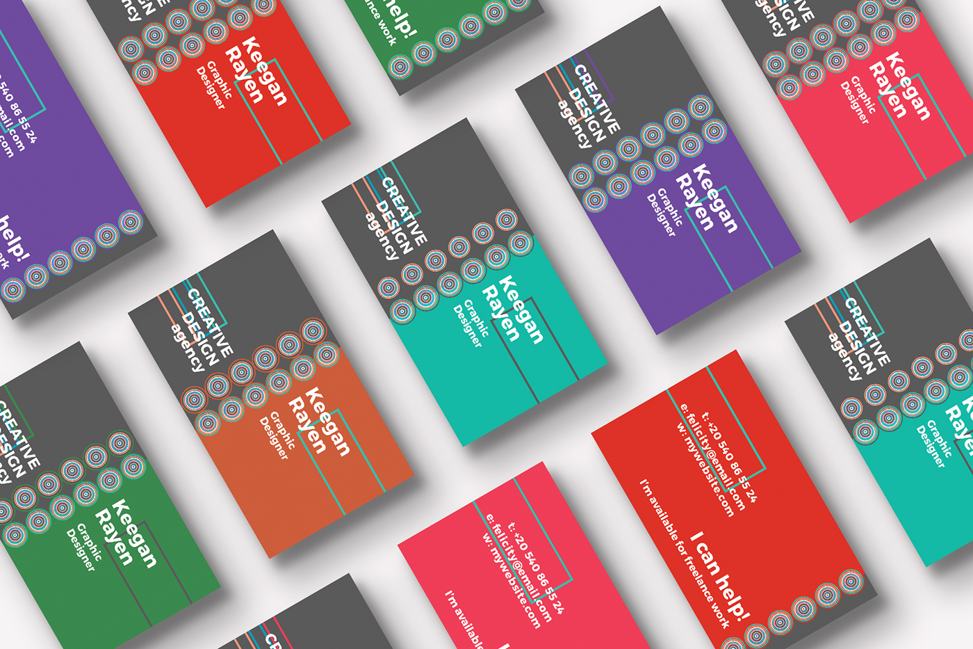 Free template creative design agency business card on behance free template design agency business card colourmoves