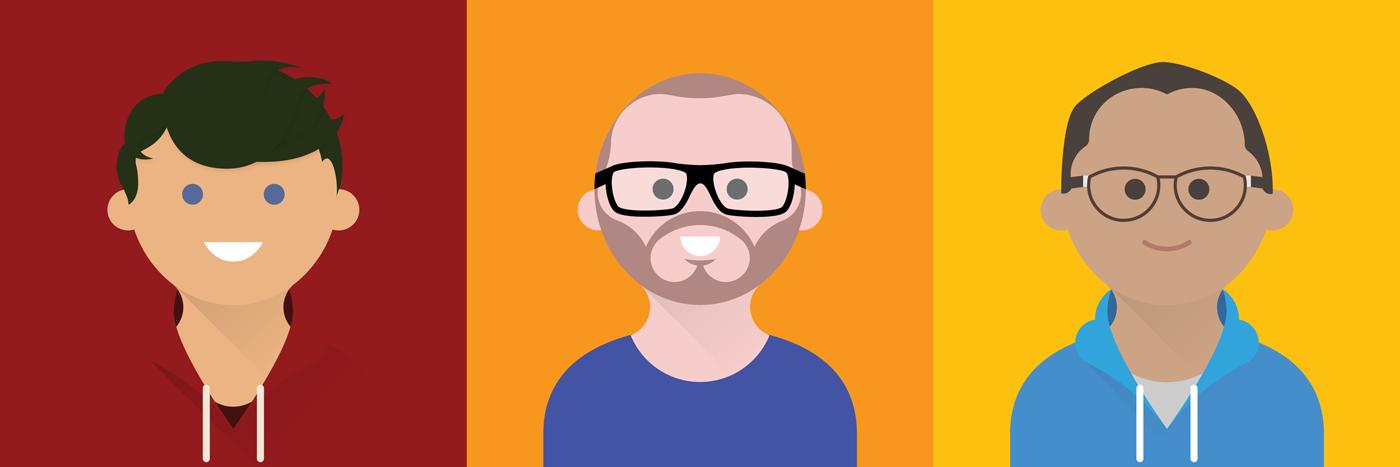 avatar,twitter,social media,portrait,face,cartoon,google,material design,flat,long shadow
