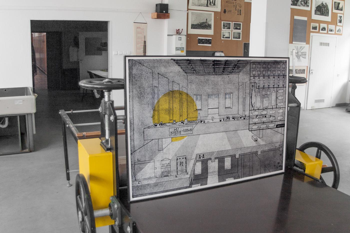 macha Machowski Ostatnia wieczerza Last Supper intaglio graphics workshop