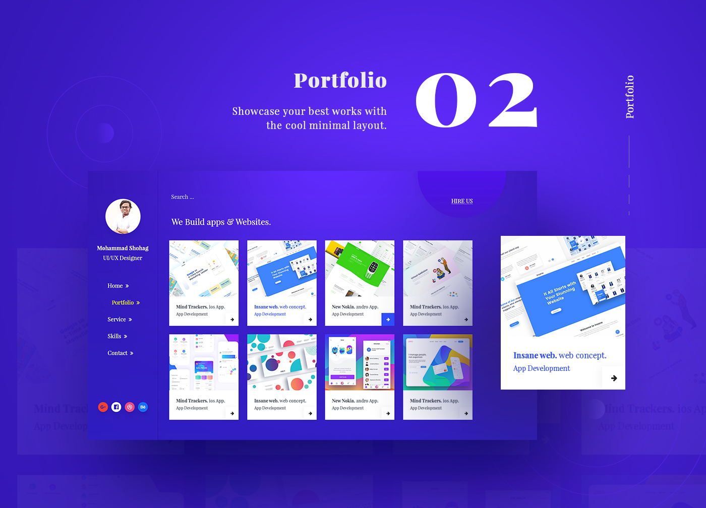 Portfolio Website Template Psd  Pinspiry