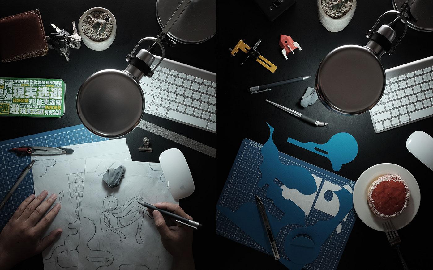 paper art paper sculpture paper decoupage paper tole rocket Space  astronaut future Create