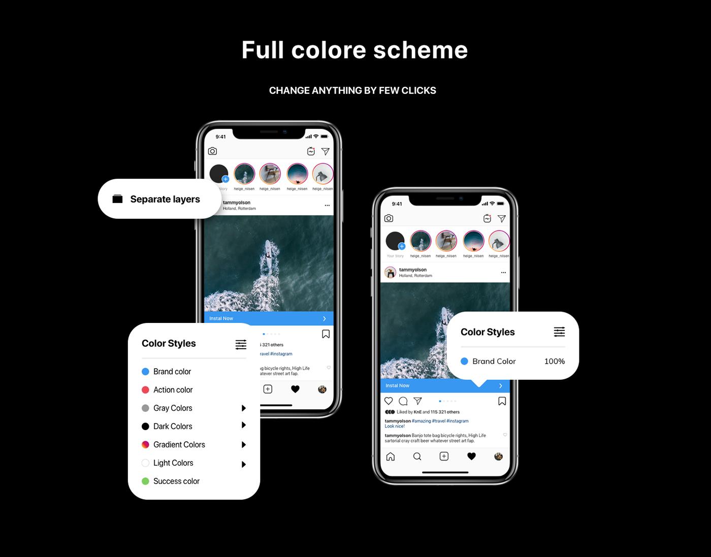 Instagram Mockup Color Scheme