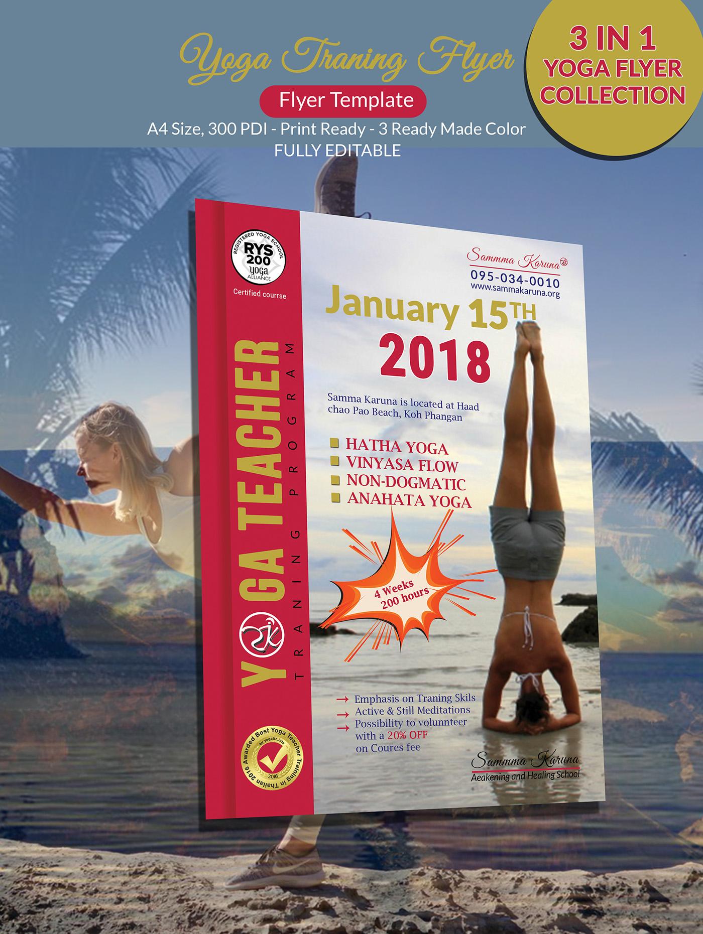 Yoga Training Program Flyer Design On Behance