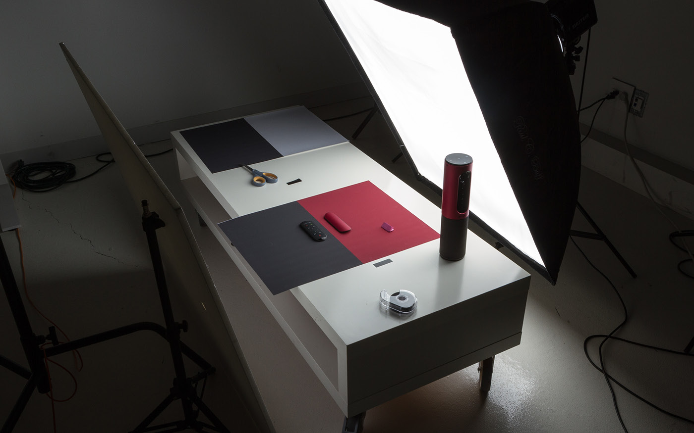 Logitech webcam camera conference Tone-on-tone shadow mnml Product Photography