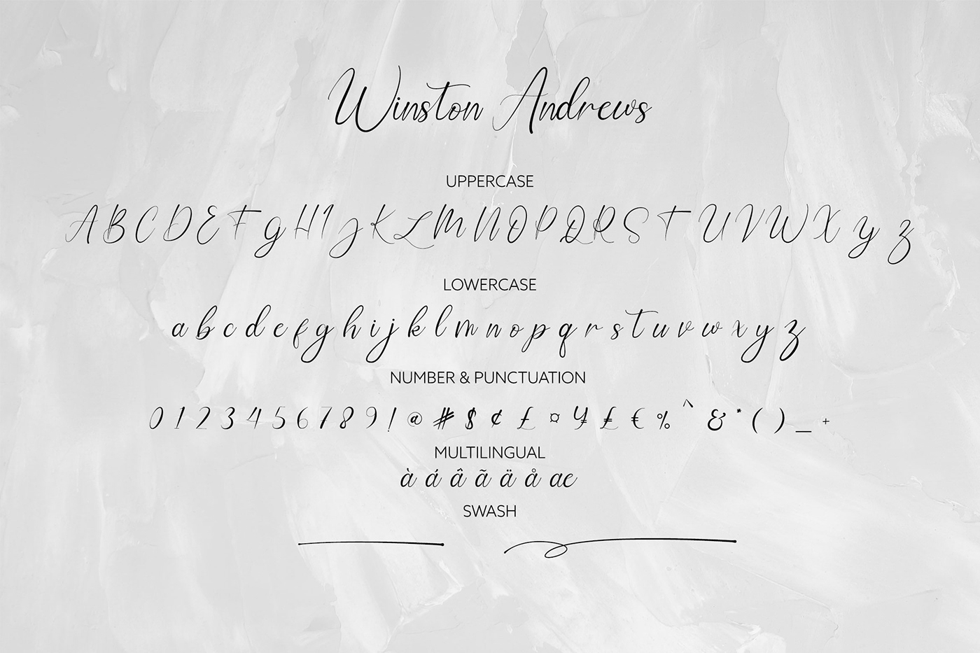 Шрифт – Winston Andrews