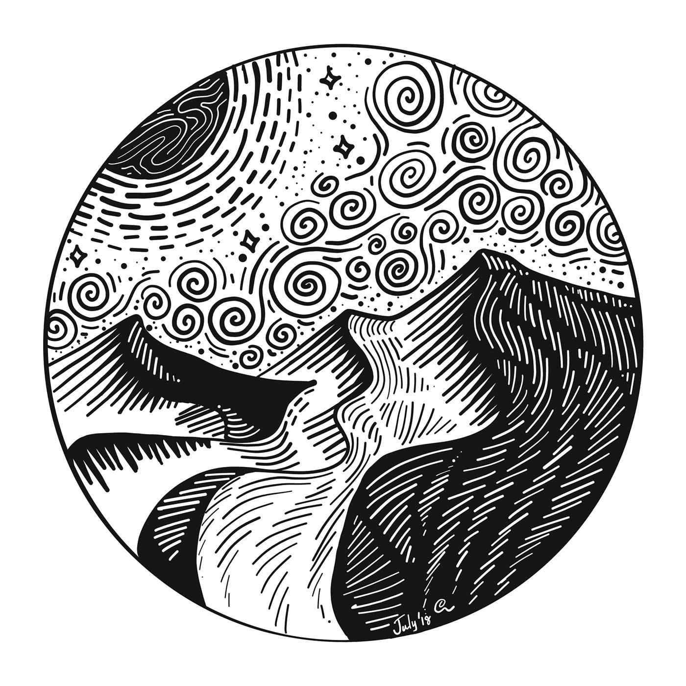 Line Art Series | Doodle Art on Behance