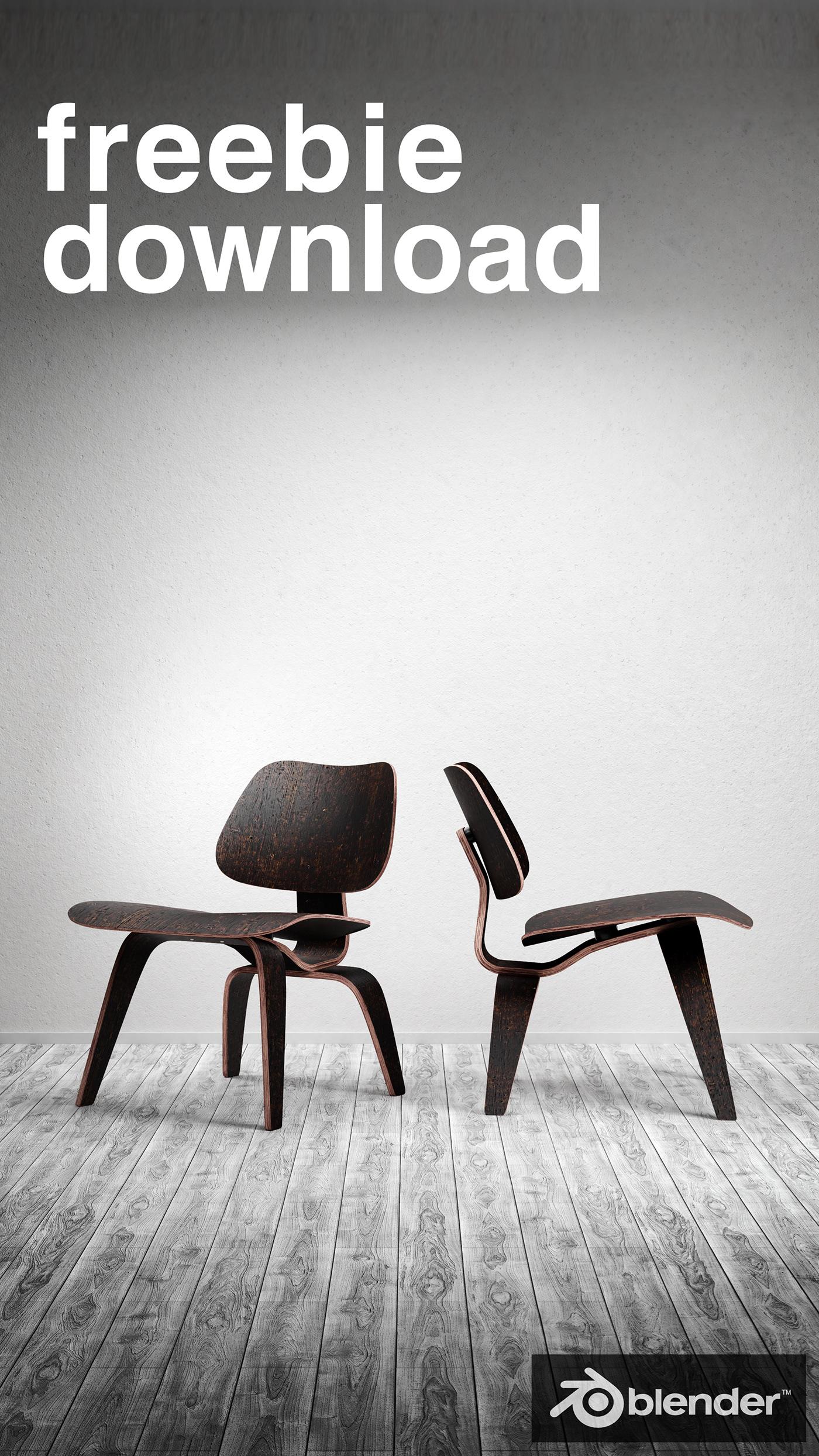 furniture interior design  blender3d model free chair