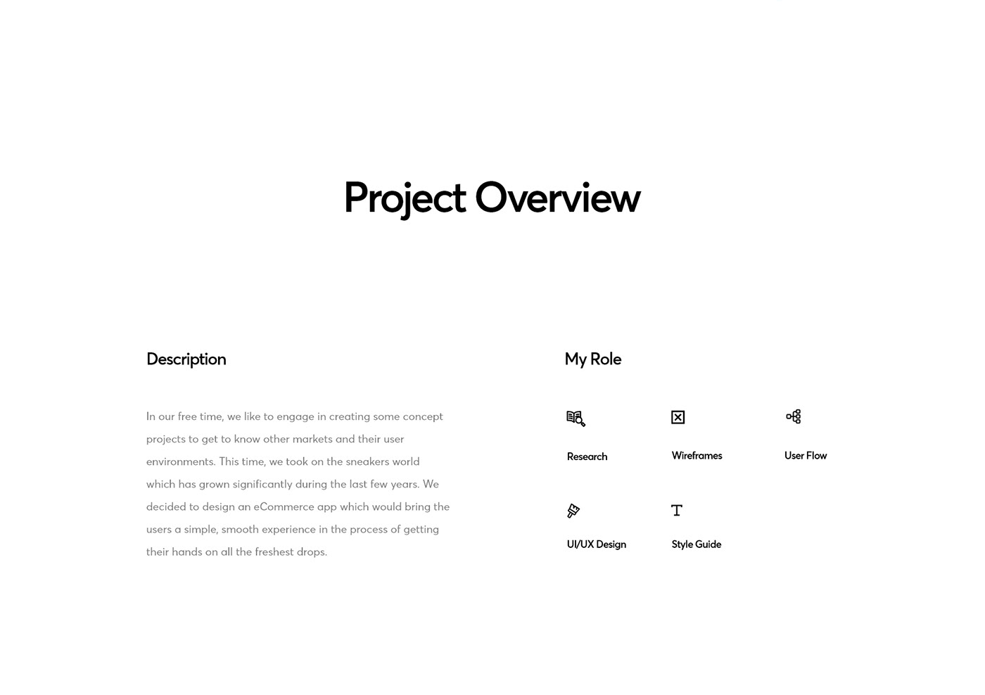A brief project overview