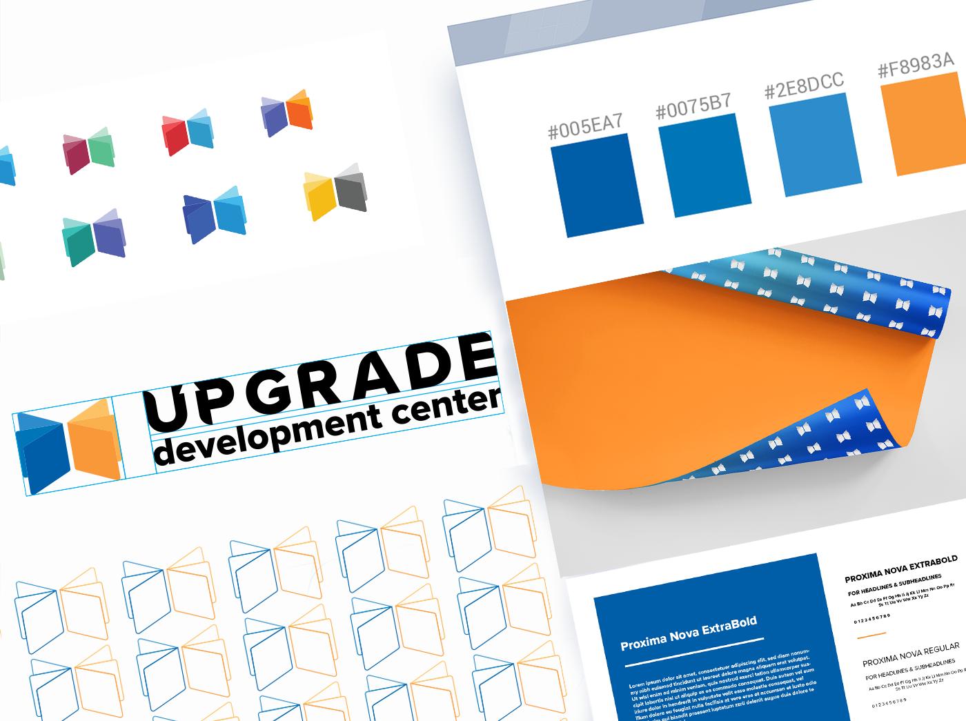 branding  baku azerbaijan Azerbaycan Education logo blue orange development book