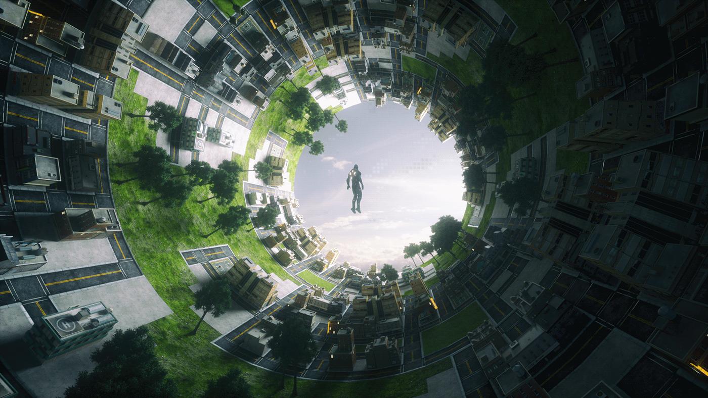 Cyberpunk Cyborg cycle earth cycle world cylinder world interstellar nolan Sci Fi