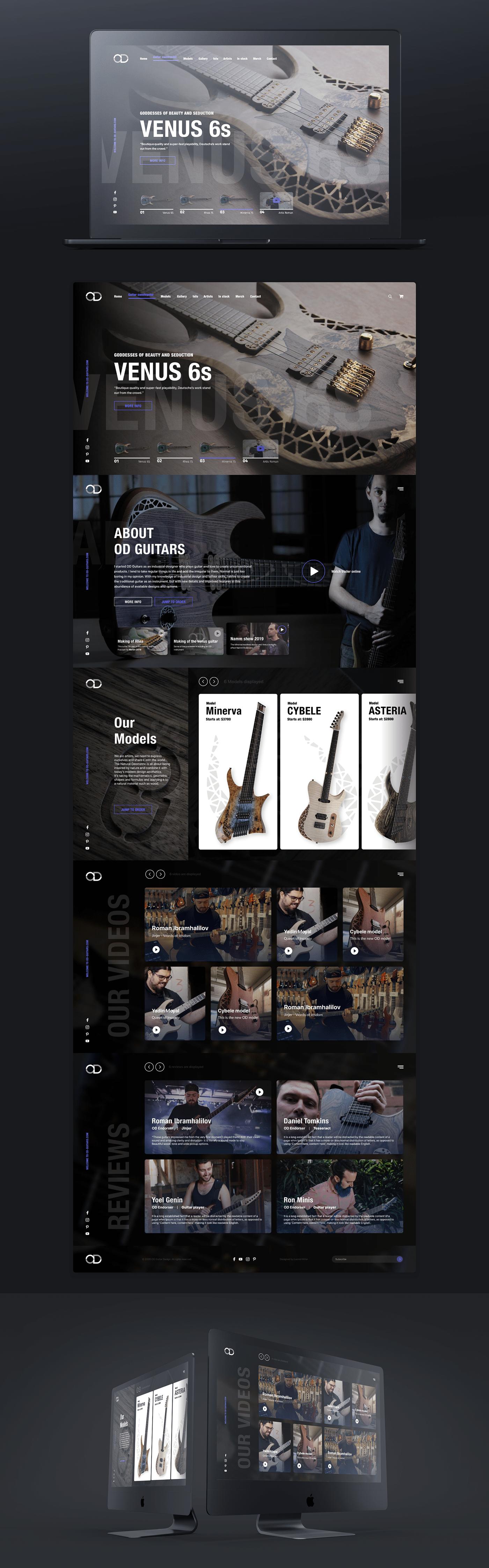 custom guitars Day guitar store OD OD Guitars store design work of the