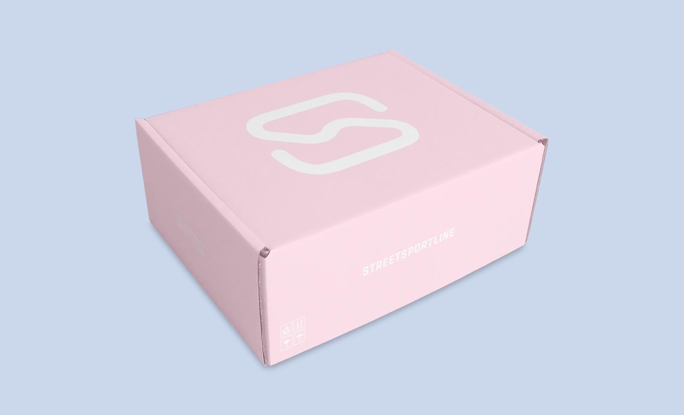 streetsportline logo shoes sneakers shop Clothing Icon design concept sport simple minimal box modern pictogram