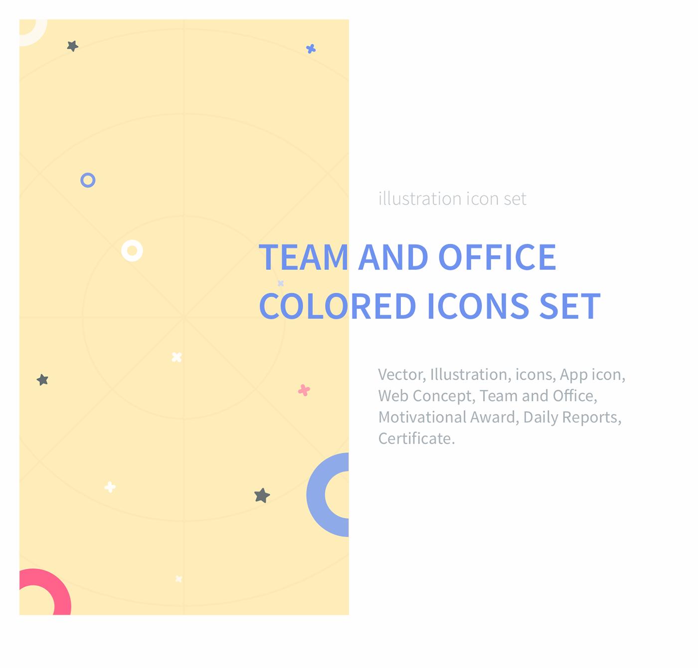 flat Icon icons color set icon set flat icon