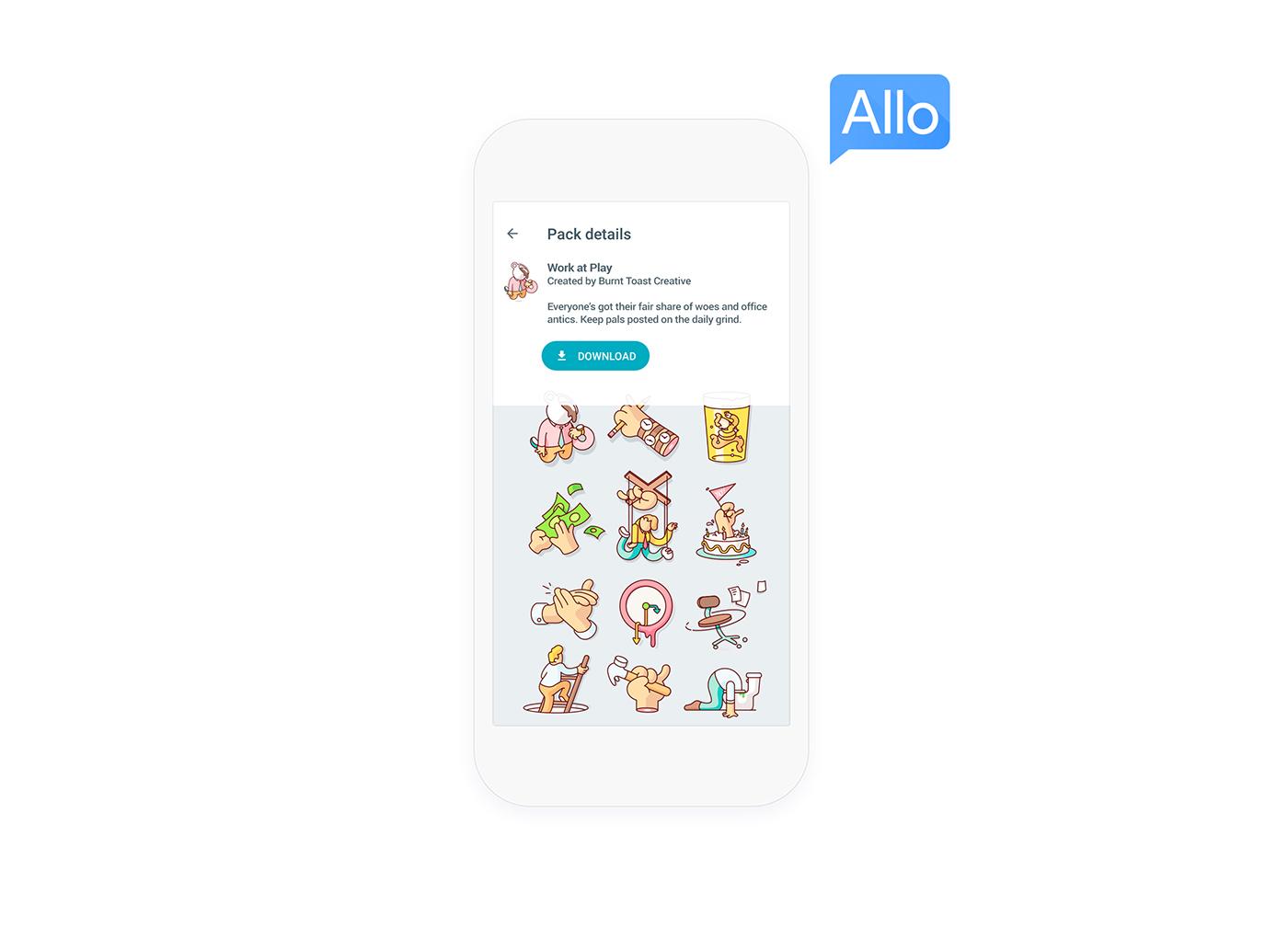 google stickers workplace Emojis