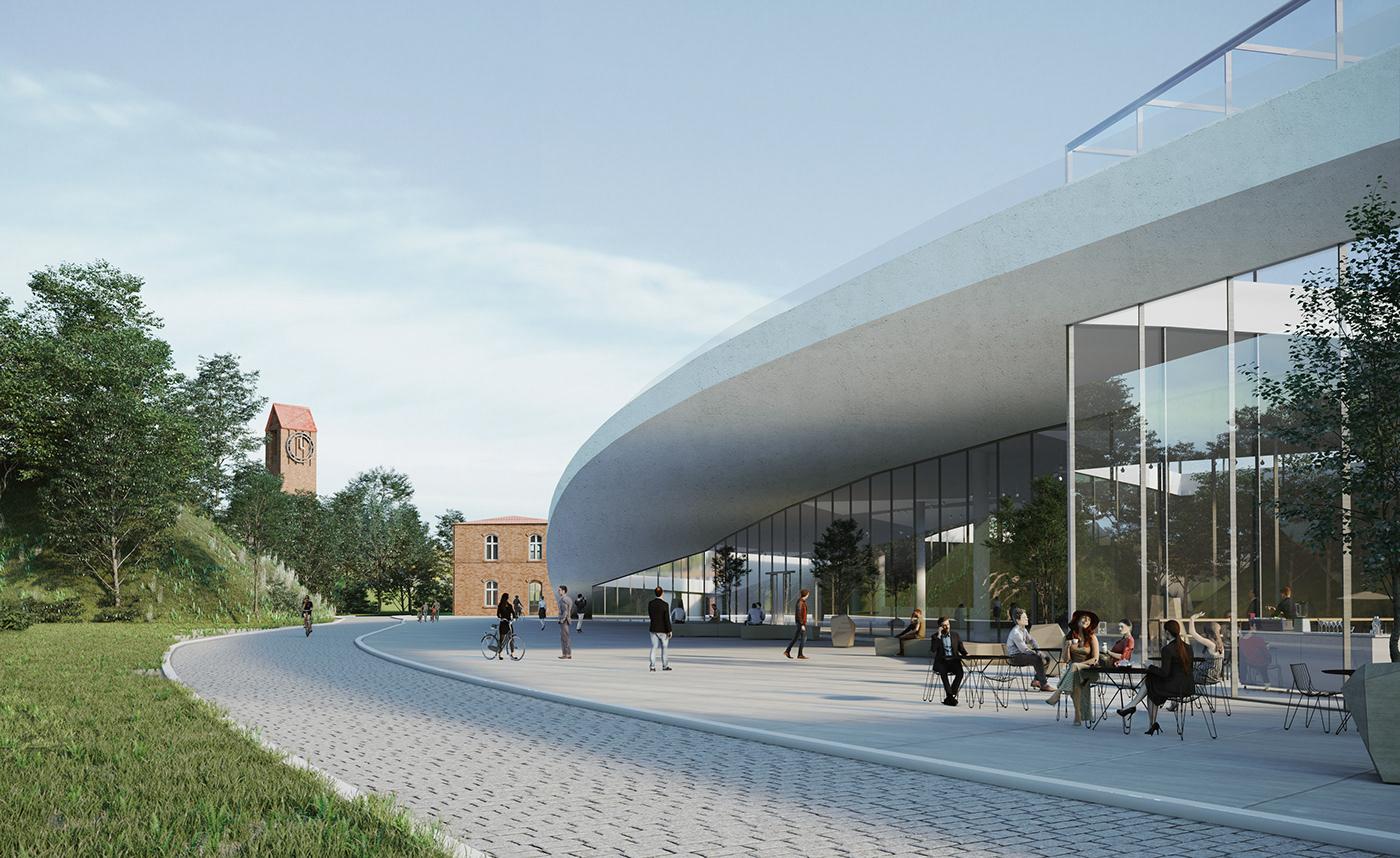Conference Centre design architecture visualizations Urban Design Competition poland Gdansk Biskupia Górka