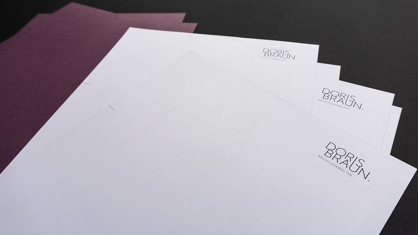 Doris Braun – Rechtsanältin   Briefpapier und Kuverts on Behance