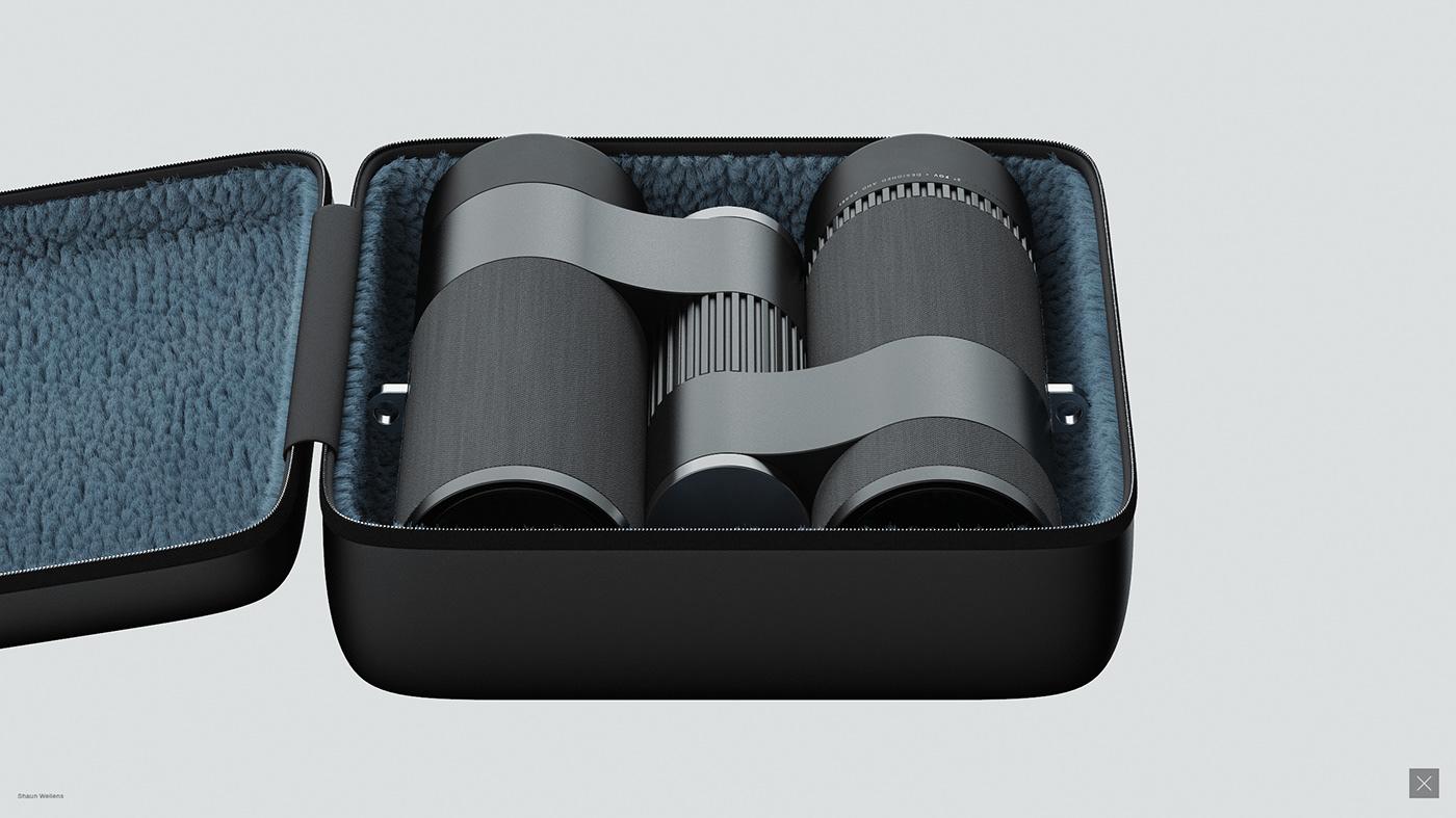 visualisation visualization Render CGI cmf binoculars concept design industrial design  Itaca product design