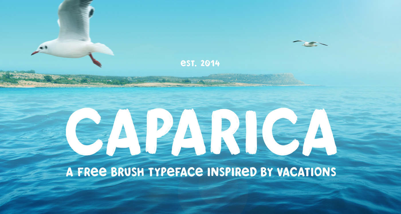 typography   beach font Free font caparica Typeface brush summer design Drawing