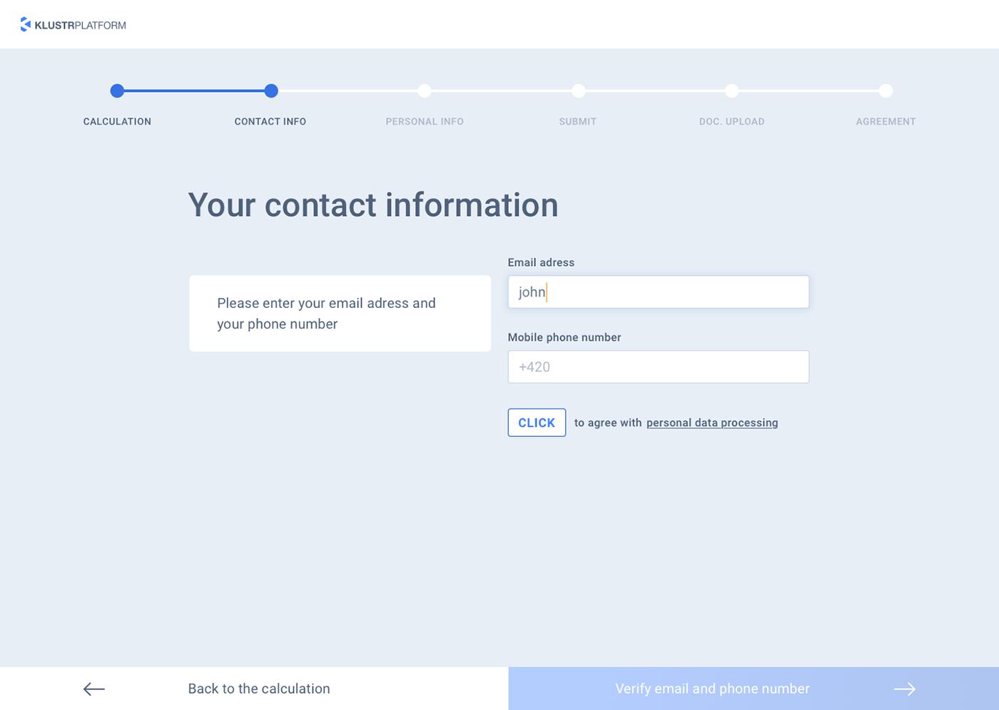 UI ux Webdesign Platform blue Interface finance calculation loan loans