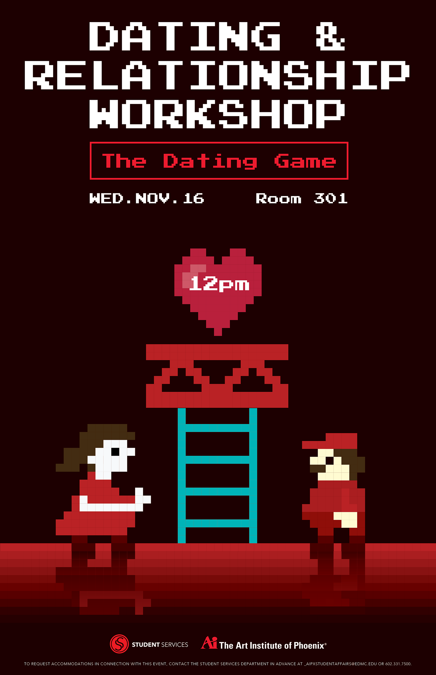 The Art Institute Of Phoenix Fall Event Posters On Behance - The art institute game design