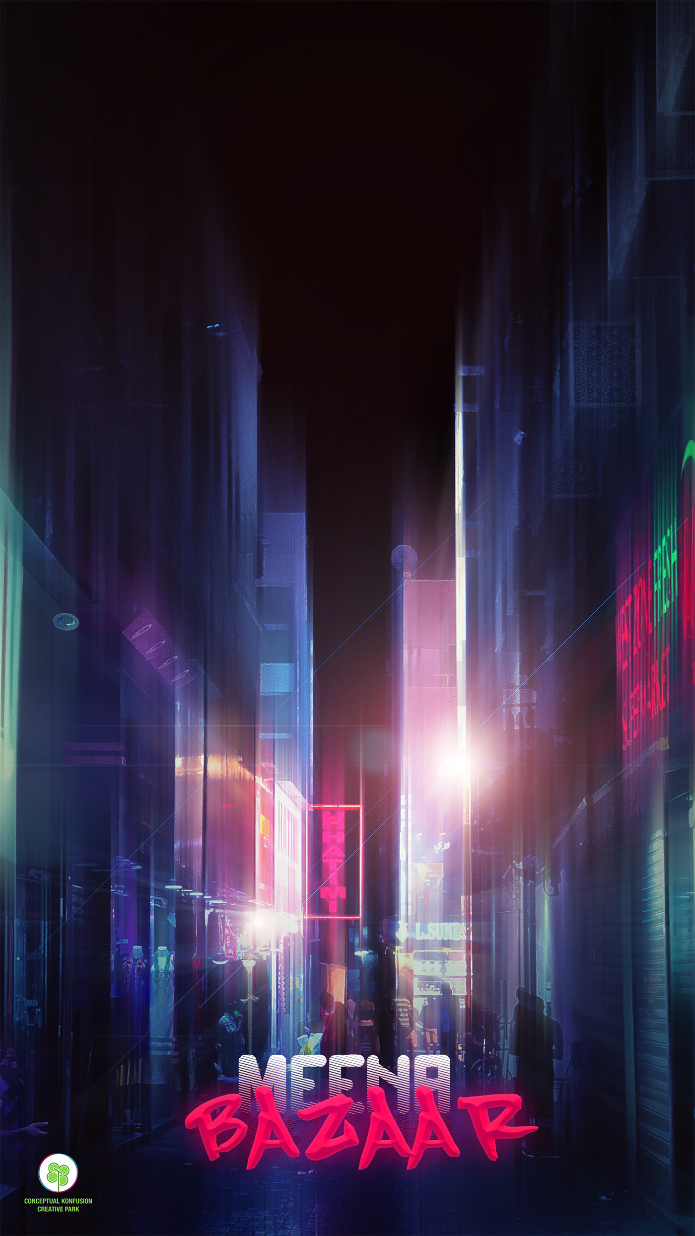 Scifi alley dark dubai meena bazaar Street Photography  pink blur