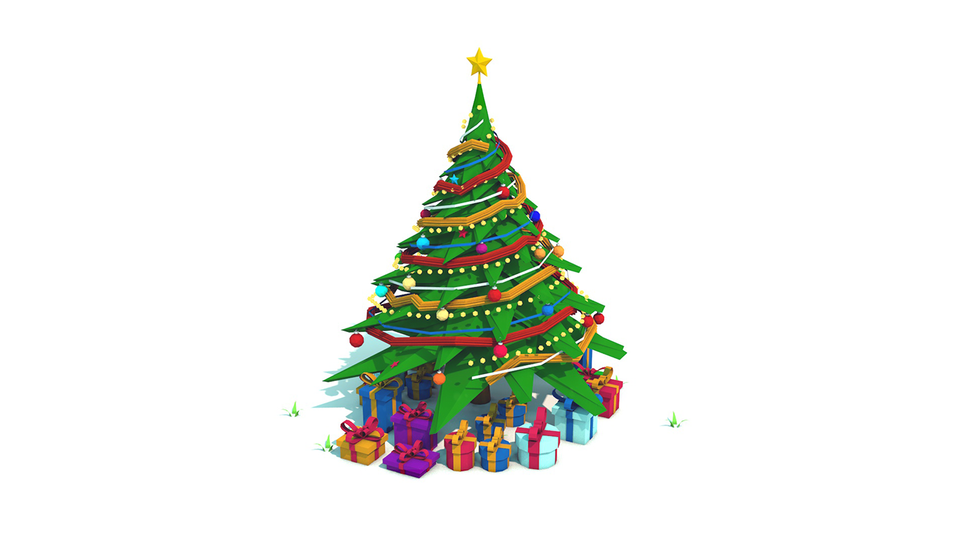 Low Poly Christmas Tree on Behance