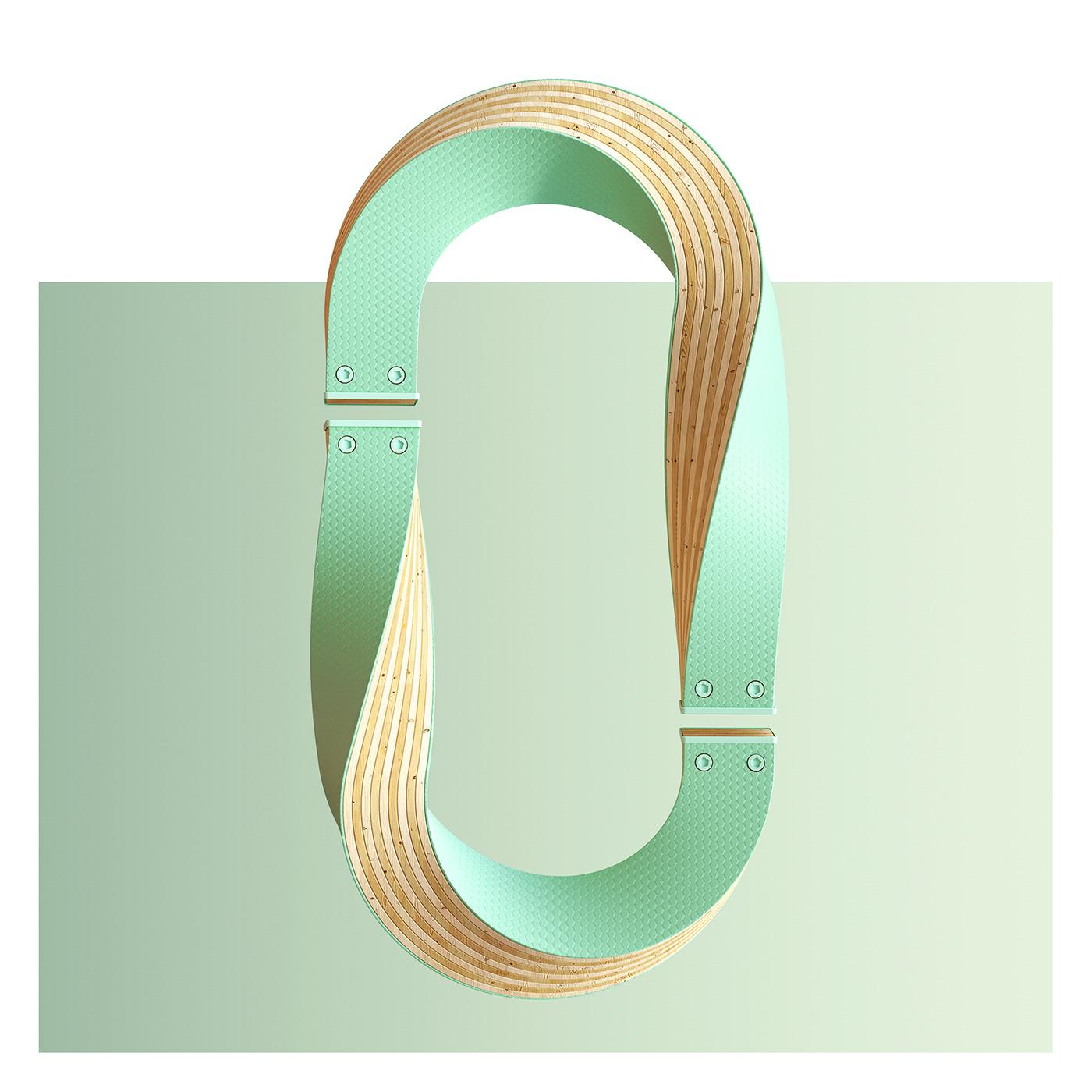 36daysoftype type 3D design 36days 3DType ArtDirection CGI 3dart typography
