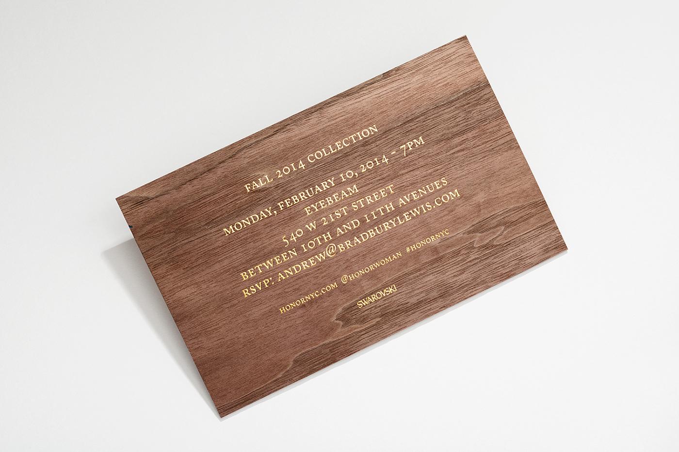 honor Hightide hightidecreative print invite fashionweek envelope