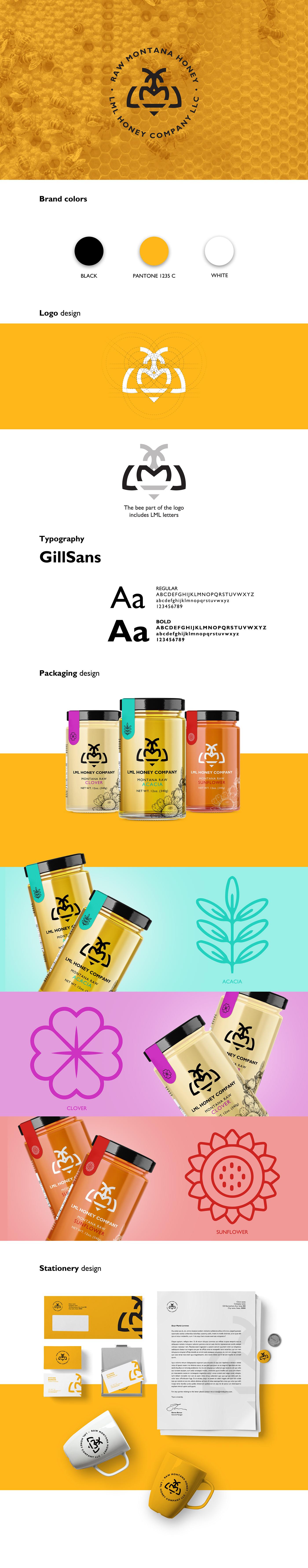 animation  bee brand design honey logo Logomotion motiondesign package yellow