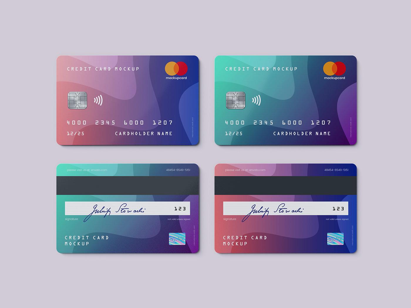 credit card    membership card mockup on student show