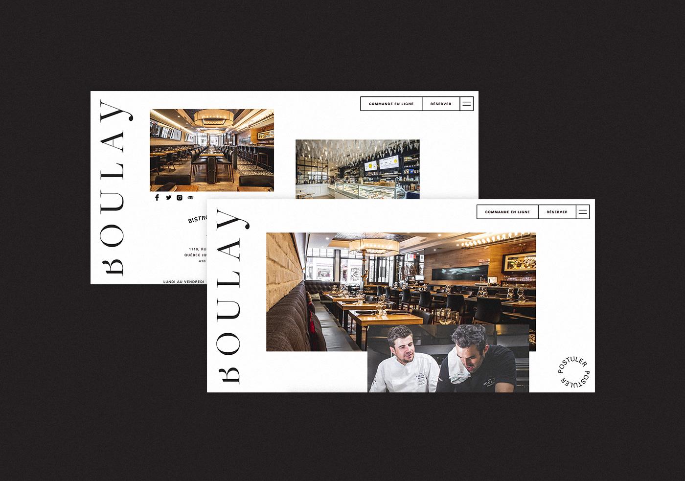 boulay design restaurant site web UI ux Web Design