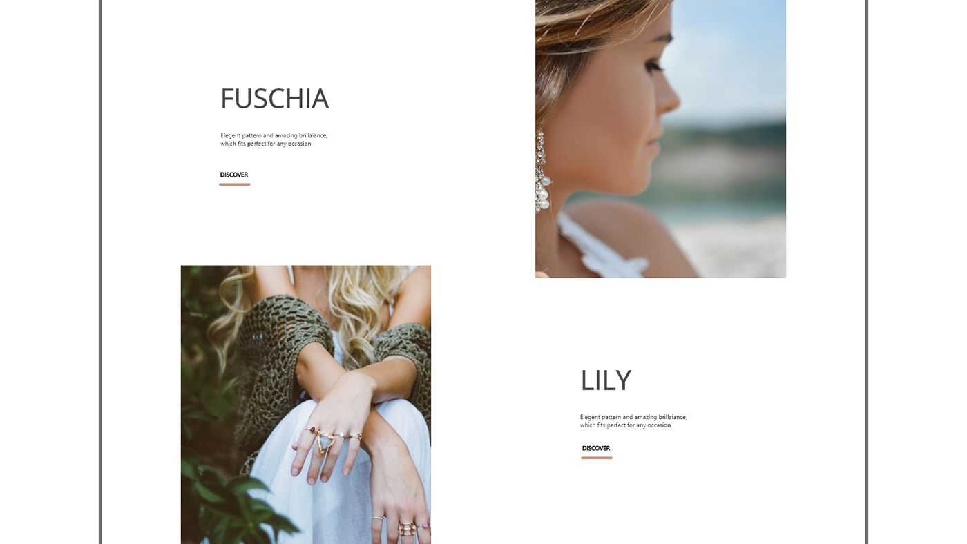 Jewellery website ui/ux concept
