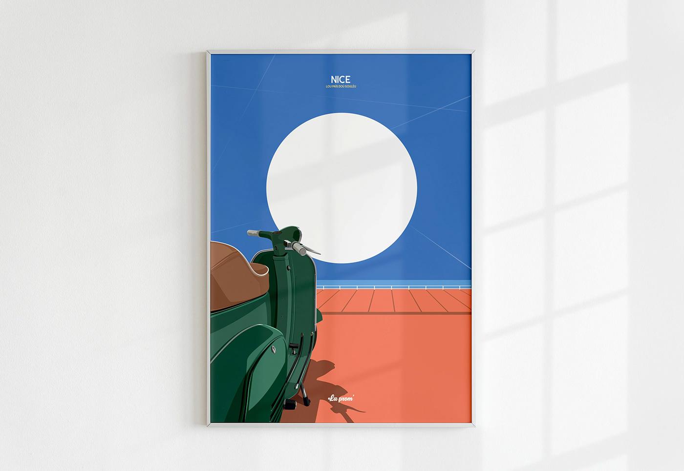#ilovenice #nice ILLUSTRATION  ILOVENICE lecoupdulapin nice nissa poster Vieux Nice vintage poster