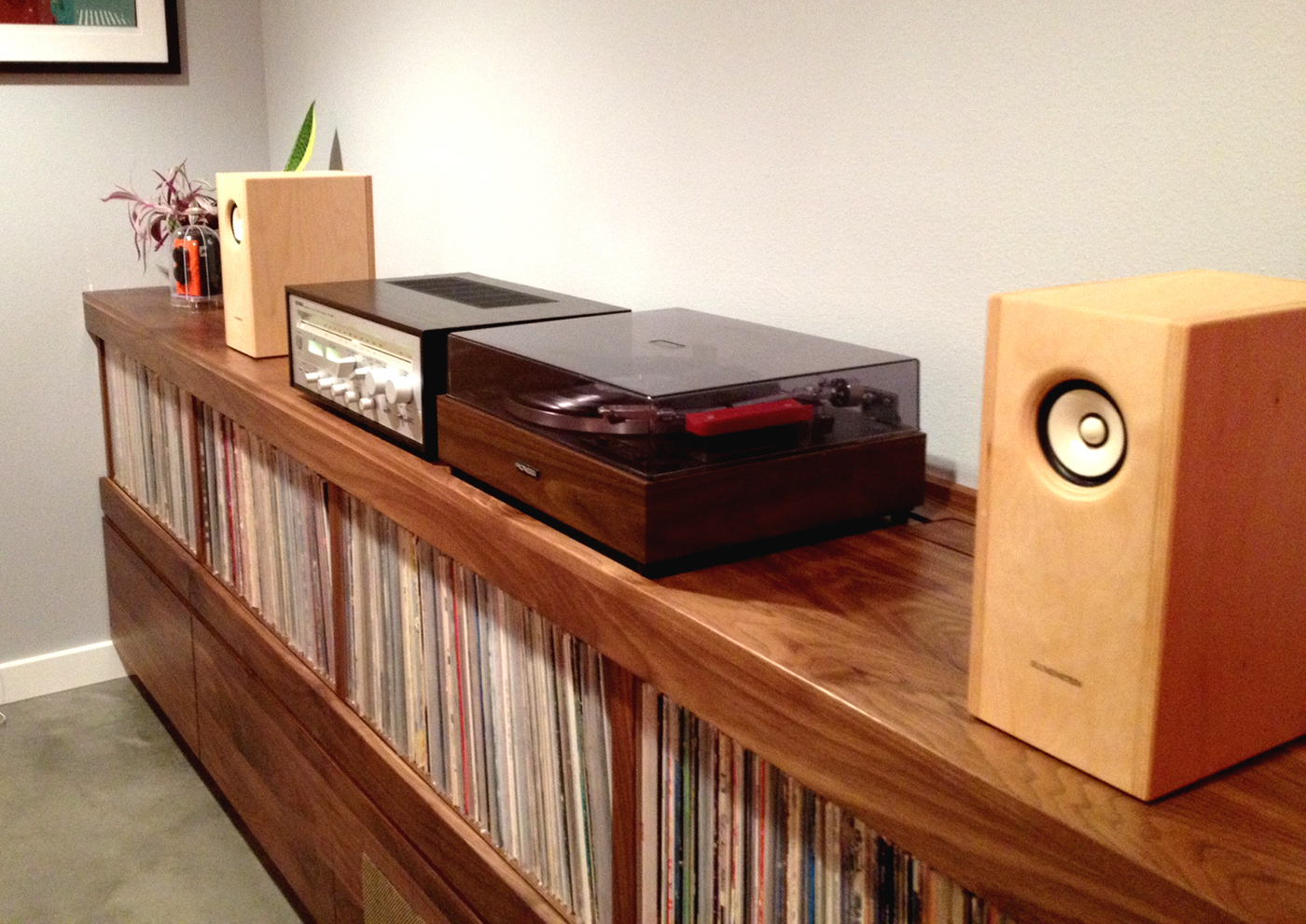 CUSTOM RECORD STEREO CABINET On Behance