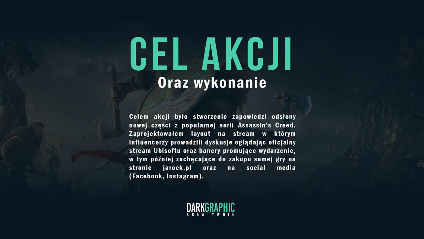 ads Assassin's creed valhalla Assassin's Creed design facebook game instagram social media ubisoft viking