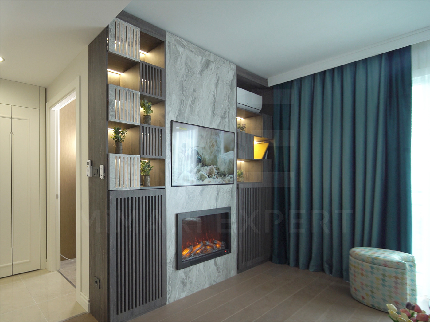 3d design apartment architecture decorations Engineering  Engineering Projects false ceilings furniture istanbul wall paper