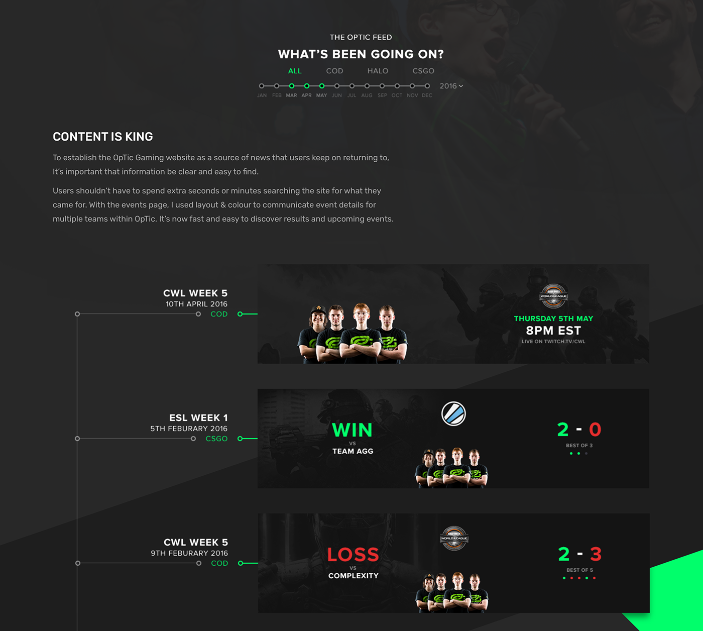 Gaming esports team homepage optic OpTic Gaming news Blog Gamer Event