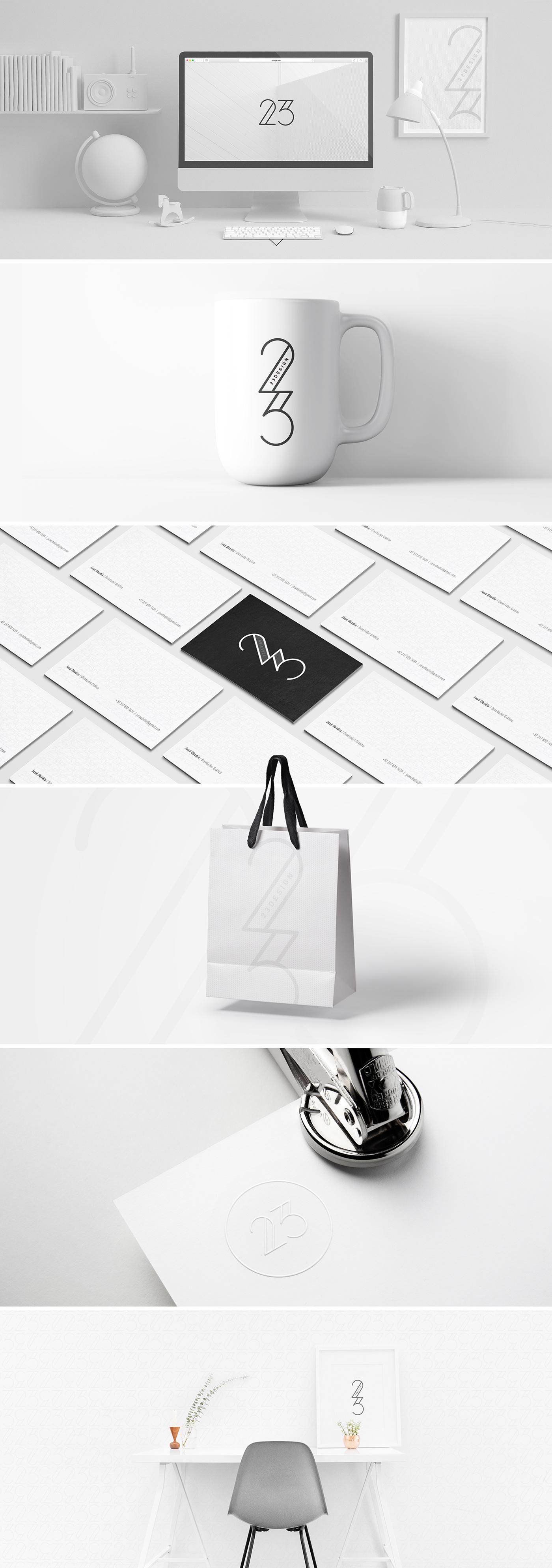 logo agency minimal font design