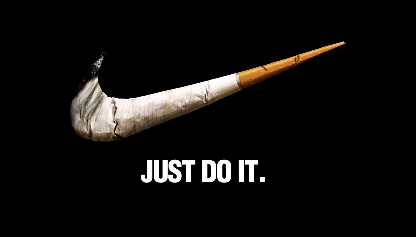 stop smoking just do it on behance. Black Bedroom Furniture Sets. Home Design Ideas
