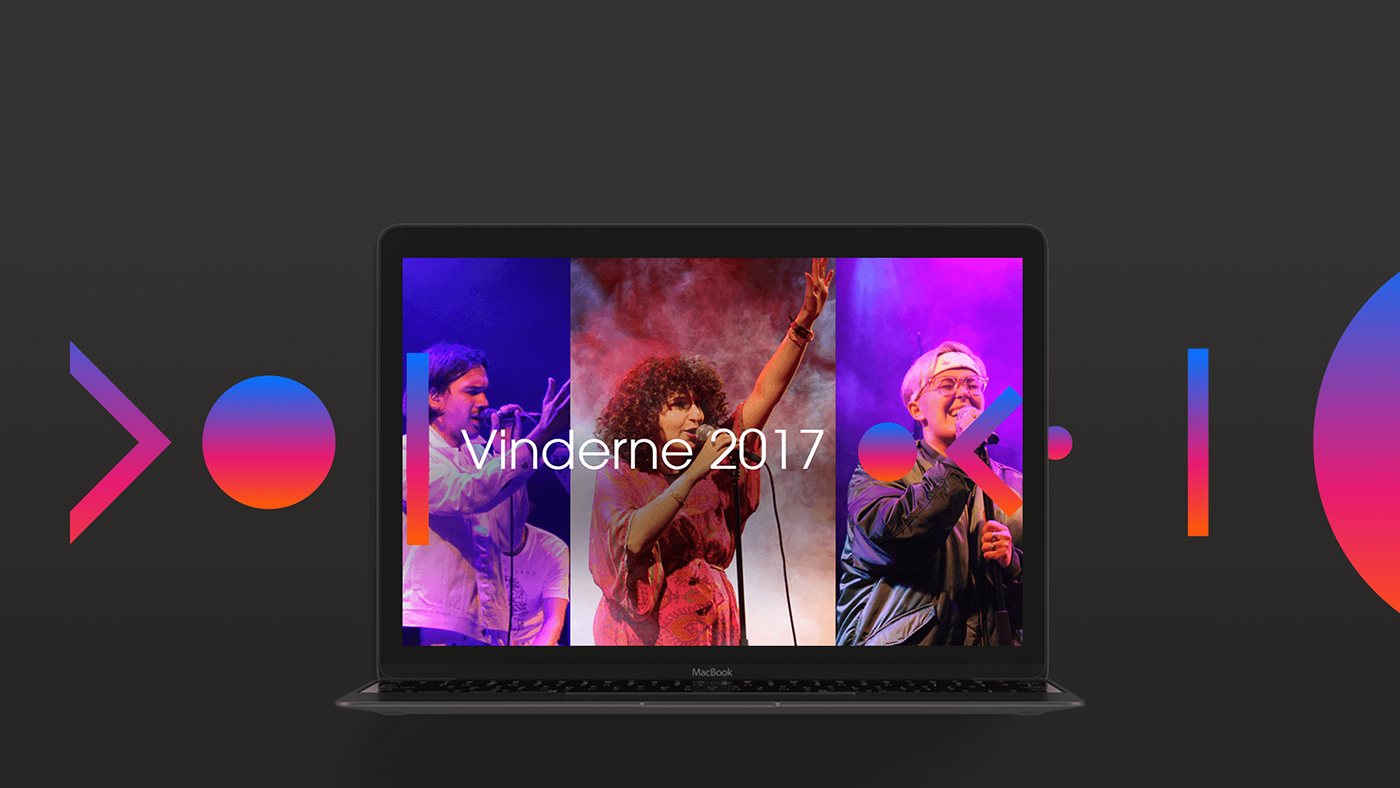 digital design DR Music service Webdesign