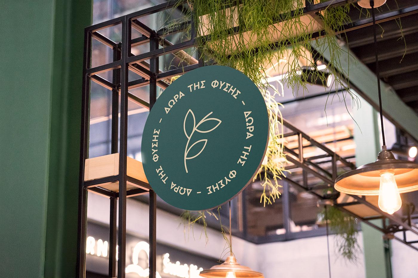 organic food branding  Logo Design organic food store