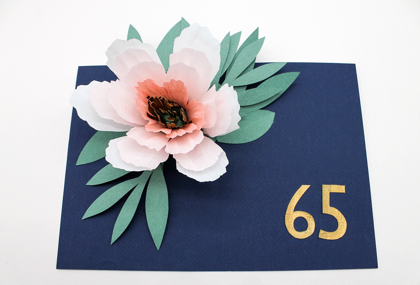 paper Popup paper engineering paper art paper flower Birthday greeting card mothers day floral