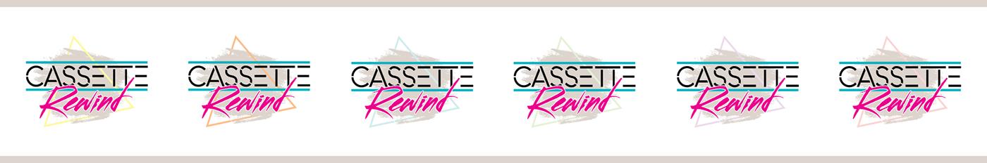 logo band logo branding  identity 80s design