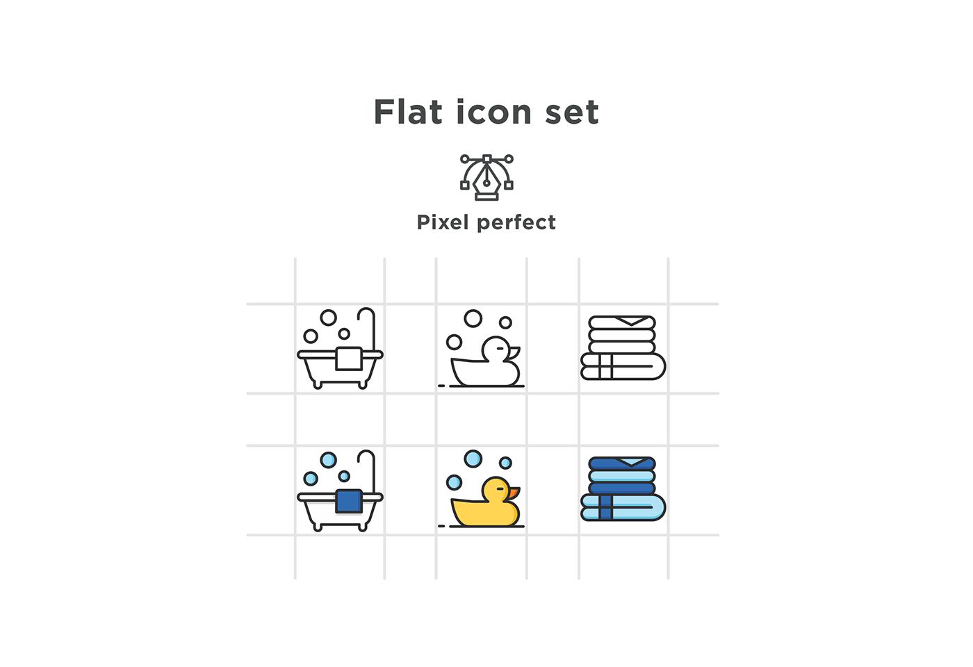 free icons icons free download flat bathroom icons bathroom toothbrush Sink towel