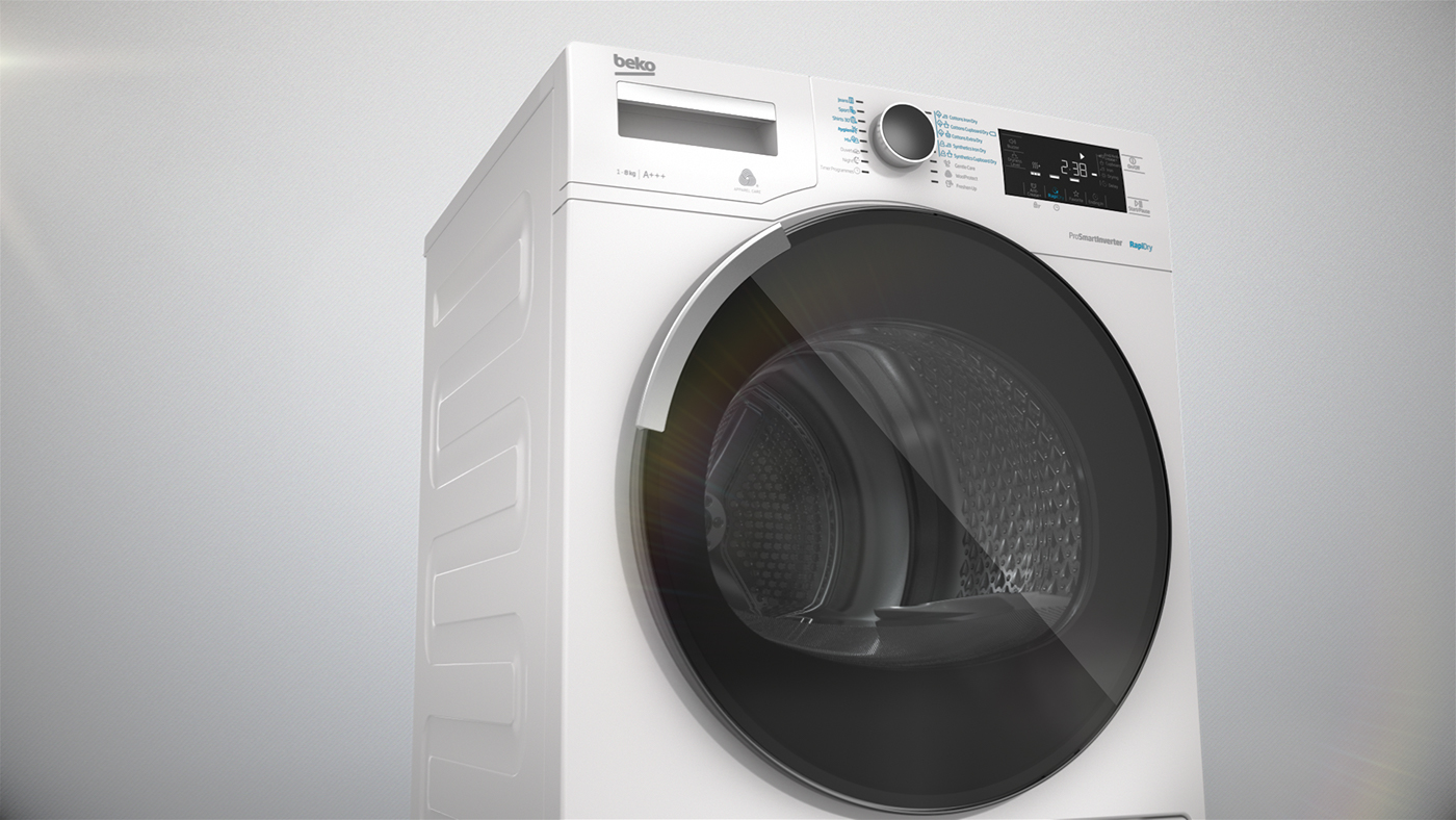 Animated Tumble Dryer ~ Beko premium laundry on behance